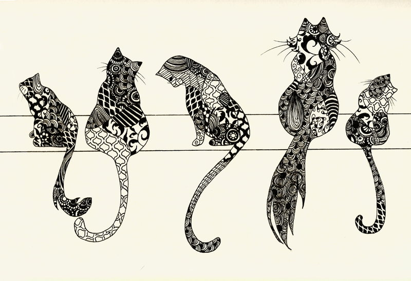 zentangle_cats_by_aliceterrarium-d8sdqye
