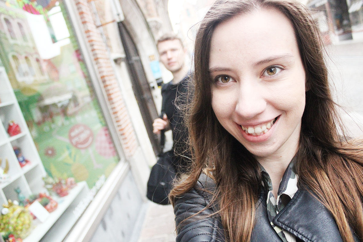 selfie w Brugii
