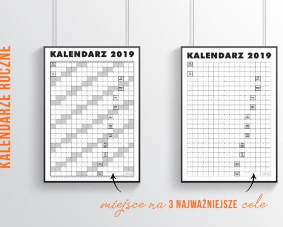 Kalendarz roczny 2019 do druku ZA DARMO