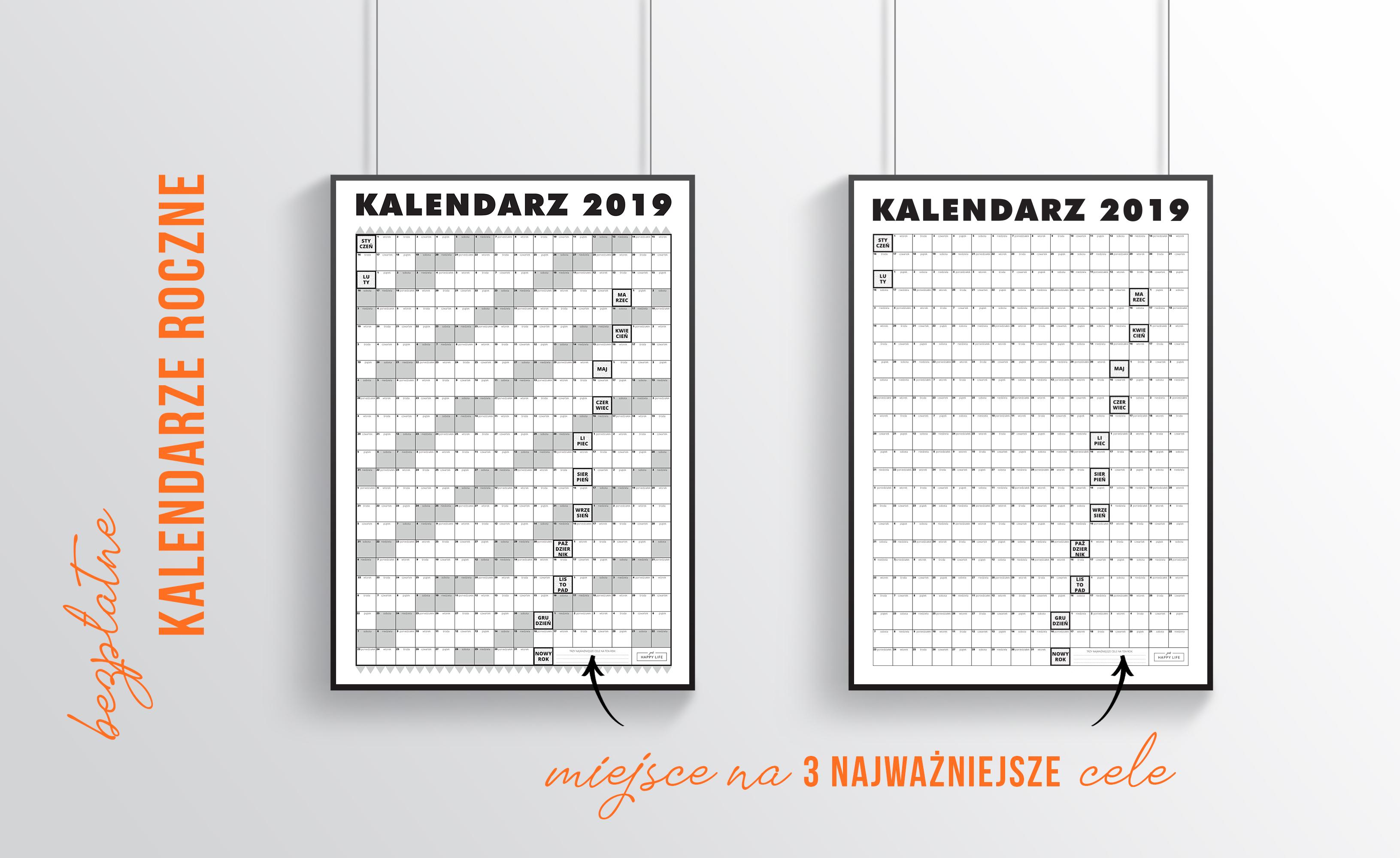 dwa wzory kalendarzy